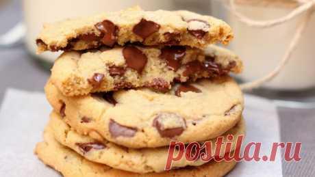 Печенье с шоколадной крошкой — Sloosh – кулинарные рецепты