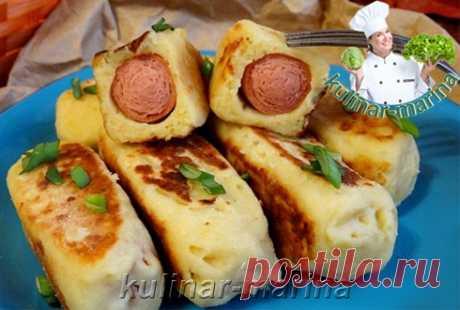 Сосиски в картофельном пюре | Sausages in mashed potatoes - Вторые блюда - Сборник лучших рецептов - Рецепты - Моя кулинарная книга
