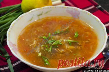 Суп томатный из горбуши