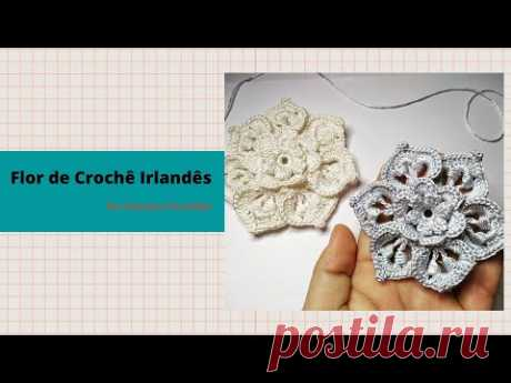Flor de Crochê Irlandês de  Seda Pura Passo a Passo!
