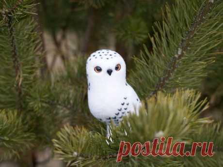 Мастер-класс смотреть онлайн: Валяем елочную игрушку «Белая полярная сова»   Журнал Ярмарки Мастеров