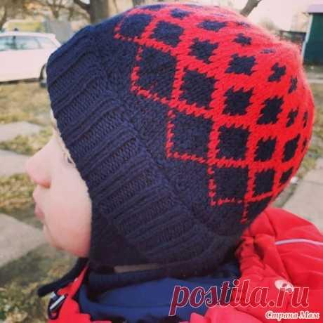 Зимние шапки для детей. Градиент жаккардом - Страна Мам