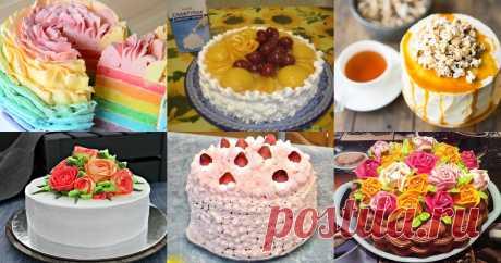 Торт с белковым кремом - 11 рецептов приготовления.  Торты на любой вкус