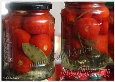 Консервированные помидоры по маминому рецепту - рецепт с фото