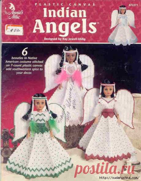 """Indian Angels. Plastic canvas."" Журнал по вышивке на пластиковой канве.."