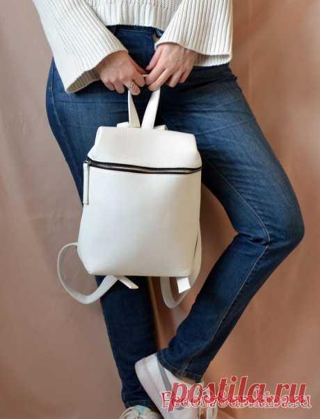 Белый рюкзак - универсальный аксессуар на лето