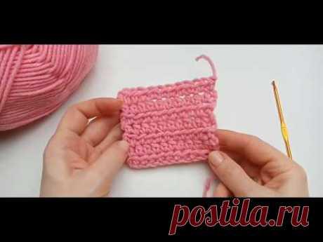 Как вязать крючком полустолбик с накидом.  Урок 6 - YouTube