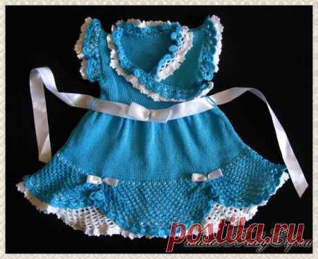 Платье для девочки крючком со схемами и описанием, фото и видео