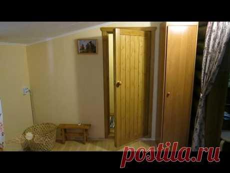 Простая теплая дверь из подручных материалов
