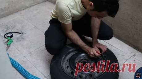 Как накачать шину из водопроводного крана Можно ли накачать шину без насоса или компрессора? Мастер под ником Kayvan утверждает, что можно. А накачивать ее он будет из водопроводного крана. Конечно, напрямую это сделать не возможно и нужно сделать ресивер. Для его изготовления нужны следующие инструменты и материалы: -