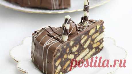 """Шоколадный торт """"Сладкая колбаска"""" с орехами"""
