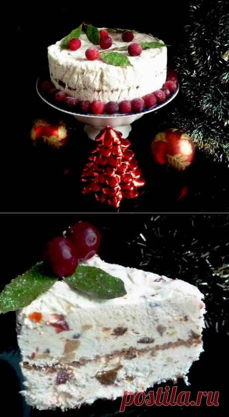 Iced Christmas Torte - Замороженный Рождественский торт (без выпечки).