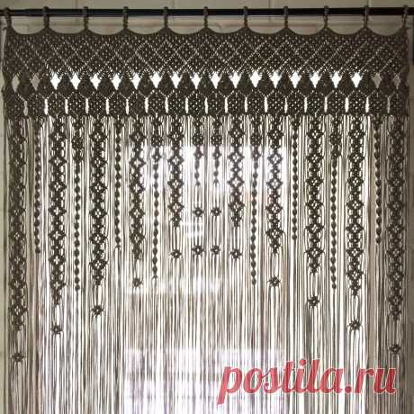 Шторы макраме своими руками: схемы плетения, на окна и на двери