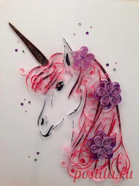 Quilling Art | Unicorn | Framed Art