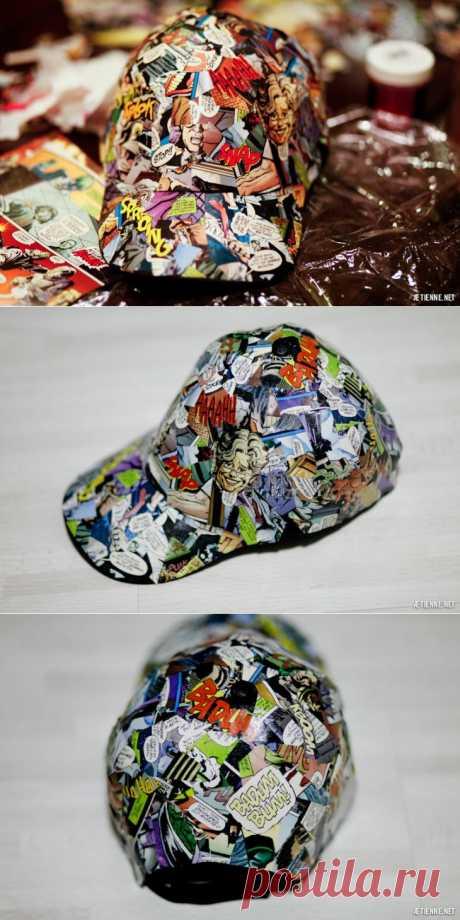 Комикс-кепка DIY / Головные уборы / Модный сайт о стильной переделке одежды и интерьера