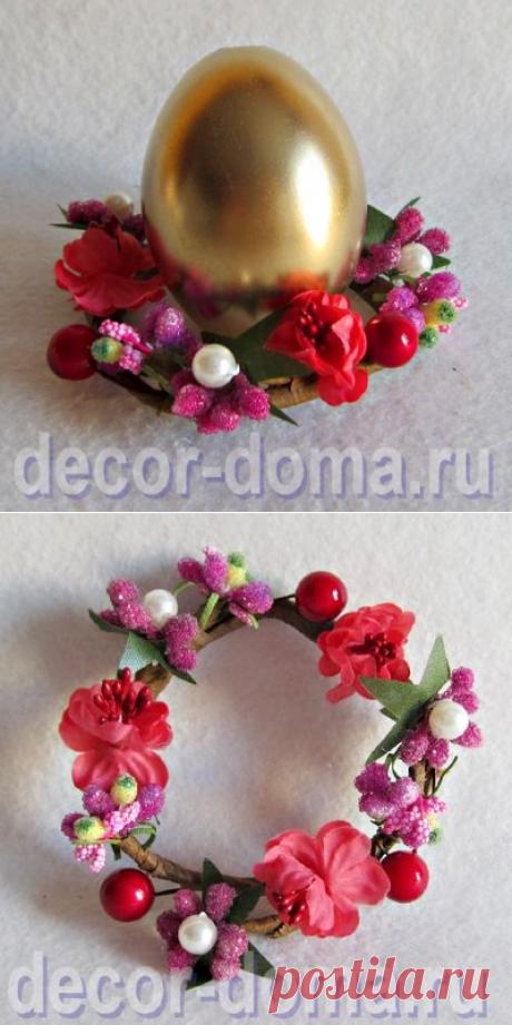 126РР-Веночек весенний для свечей и пасхальных яиц, цвет красный купить, заказать с доставкой
