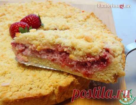 Насыпной пирог с клубникой и рикоттой Кулинарный рецепт