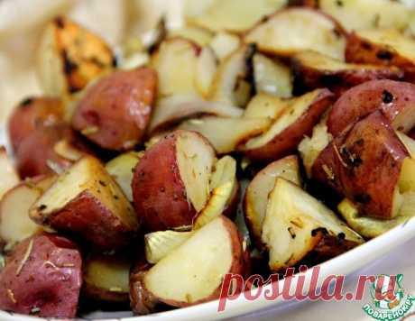 Запеченый картофель с чесноком – кулинарный рецепт