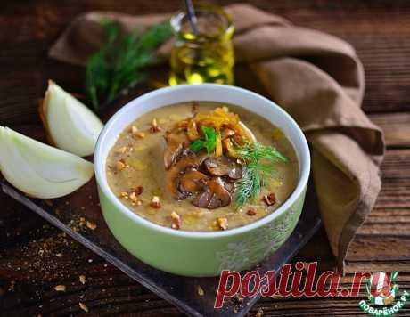 Гречневый суп-пюре с шампиньонами – кулинарный рецепт