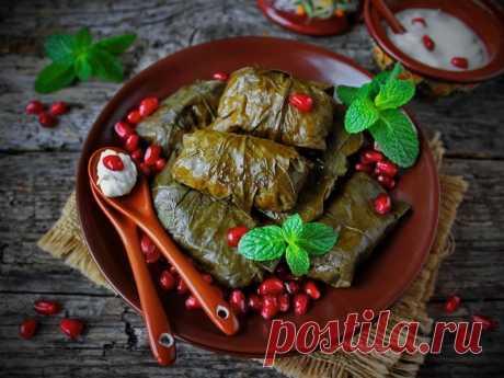 Долма с бараниной и мятой — Sloosh – кулинарные рецепты