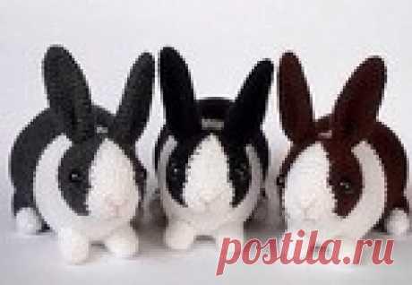 Вязаный кролик, описание