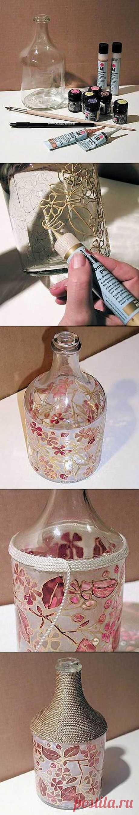 Джин из бутылки или ваза своими руками » Женский интернет журнал