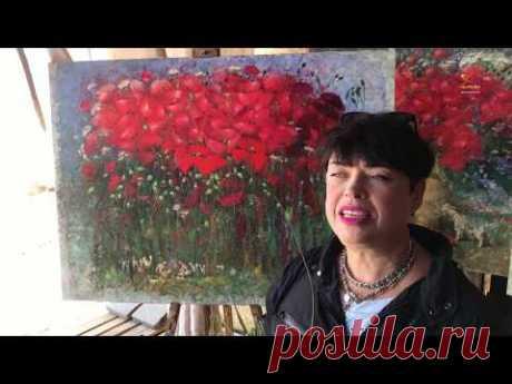 Сколько картин с цветами мака успела нарисовать Елена в период цветения?