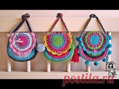 Детские сумочки крючком - идеи для вязания и вдохновения - YouTube Такие оригинальные детские сумочки с единорогом, лисичкой, совой, фламинго, куколкой Лол, с ушками Мини и Микки Маус, Китти, а также рюкзачок с ушками как у зайки, можно связать крючком из трикотажной пряжи или шнура.
