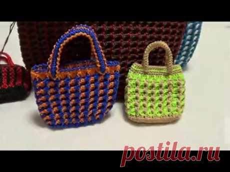 699b62cb41f2 How to Crochet Bag: Fashion hit color Bag 1\/3