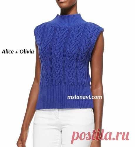 Вязание спицами летней кофточки для женщин | Мисс Лана Ви | Ms Lana Vi