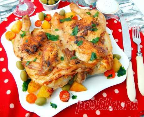 Цыплёнок табака в духовке рецепт с фото пошагово - 1000.menu