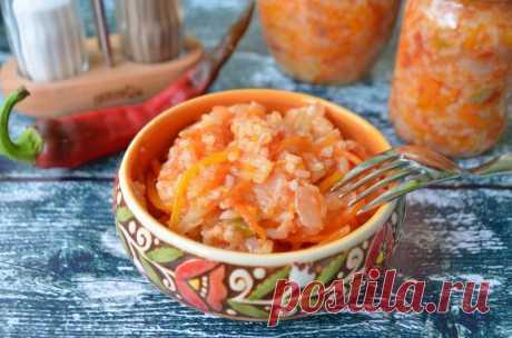 Консервированный рисовый салат с овощами — Sloosh – кулинарные рецепты