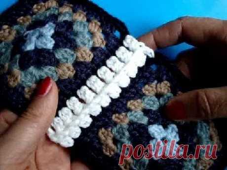 Вязание крючком Урок 237 Соединение мотивов Crochet joining