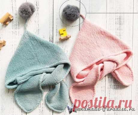 Детский шарф с капюшоном. Схемы вязания