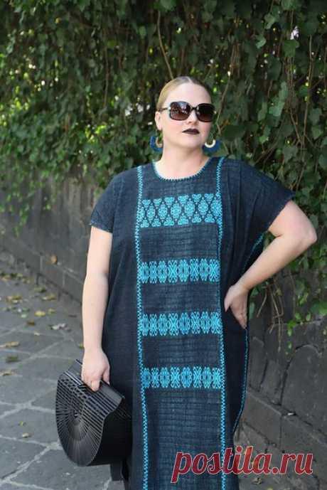 Этнические, мексиканские, мотивы в одежде размера plus-size #plus-size@bohostyle