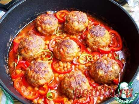 Тефтели в фасолево-томатном соусе – кулинарный рецепт