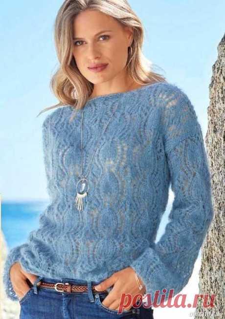 Ажурный пуловер из мохера — Отлично! Школа моды, декора и актуального рукоделия