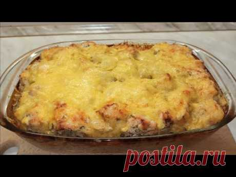 Запеканка из курицы и гречки с сырной корочкой.Вкусный ужин для всей семьи!