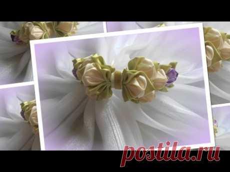 Нежный ободок из бутончиков/ Канзаши/Kanzashi/ МК/ DIY/new petals/