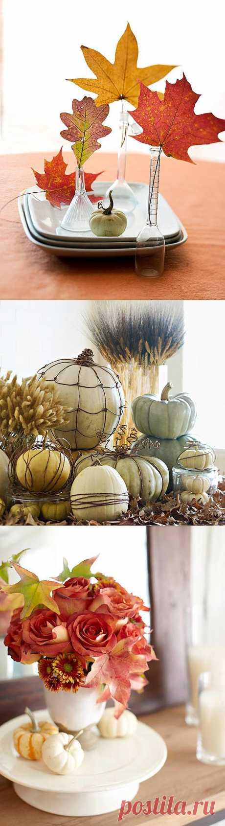 Осенний декор из натуральных материалов | Дом-Цветник