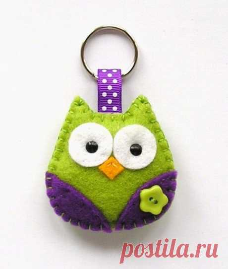 Owl keyring - Folksy
