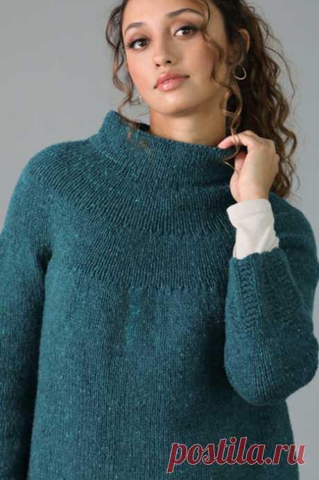Пуловер с воротником стойкой Cuspate