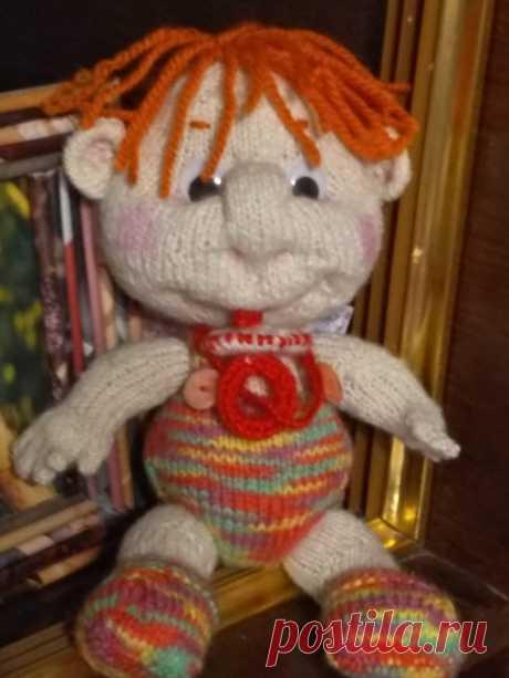Кукла пупс Антошка. Вязаные игрушки - подарок любимым.