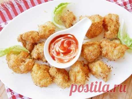 The tasty and crackling cauliflower baked in batter