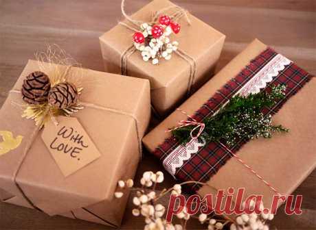 Как красиво и просто упаковать подарок своими руками