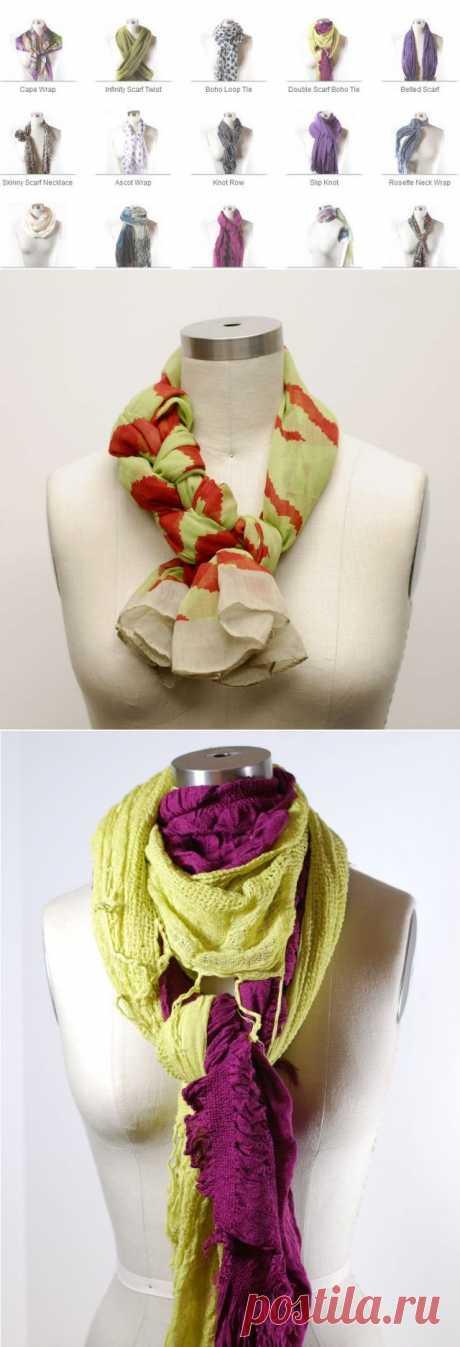 Один шарф - много решений 2 / Шарфы / Модный сайт о стильной переделке одежды и интерьера
