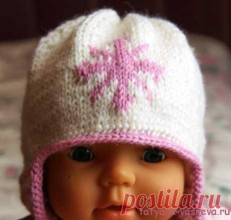 Вязаная шапочка для новорожденного | Блог Васильевой Татьяны