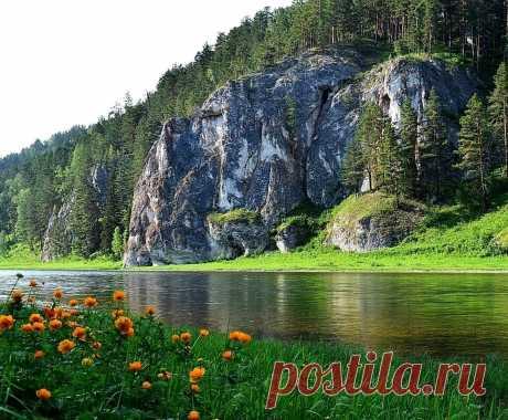 ༺🌸༻ Сибирь. Река Кия.