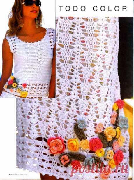 Воздушный летний костюм: топ и юбочка