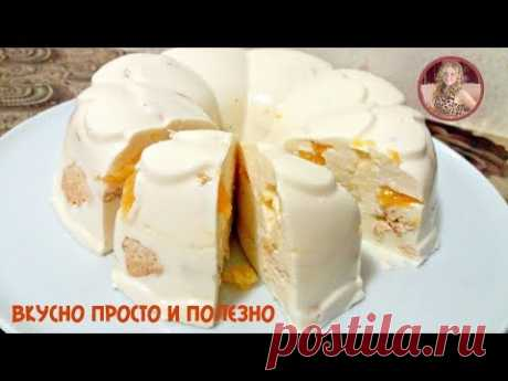 "Cake in 5 minutes Without Pastries ""Snowball\"". Cake souffle from Cottage cheese Tasty and Easily"